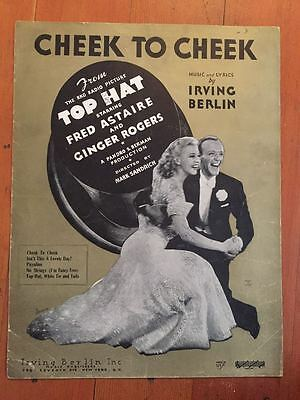 Heaven Cheek To Cheek Fred Astaire Rogers Gold Cover Movie Sheet Music Ebay