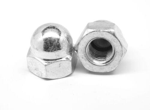 "1//4/""-20 Coarse Thread Acorn Nut 2 Piece Low Carbon Steel Nickel Plated"