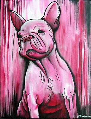 French bulldog Painting Original Art Acrylic Painting Pet portrait dog Artwork