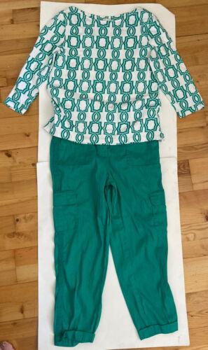 2-pc Chico's Linen Pant Suit