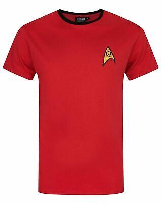 Star Trek Security and Operations Uniform Red James T Kirk Men/'s Costume T-Shirt
