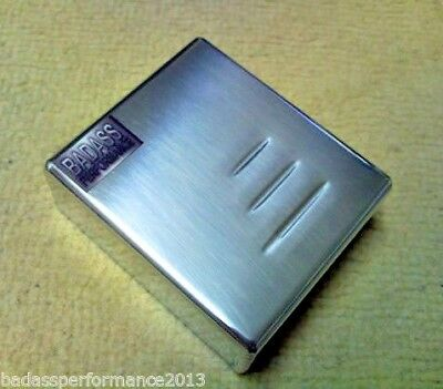 MITSUBUSHI EVO FUSE/RELAY COVER. POLISHED ALY. SMALL TYPE.