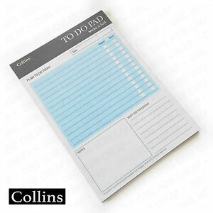 collins daily desk planner schedule to do list a5 60 page