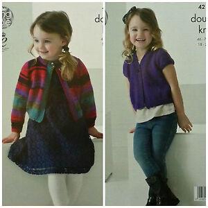 e4a1e48a3 Image is loading KNITTING-PATTERN-Girls-Easy-Knit-Long-Short-Sleeve-