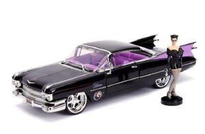 1-24-dc-Bombshells-1959-Cadillac-Coupe-Catwoman-personaje-DIECAST-metal-jada-Toys