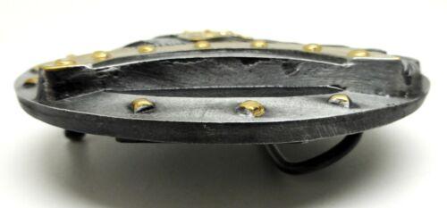 Viking Belt Buckle Black /& Gold Norse Design Authentic Dragon Designs Product