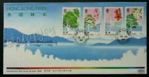 SJ-Hong-Kong-Trees-1988-Mountain-Forest-Plant-Flower-Flora-FDC-see-scan