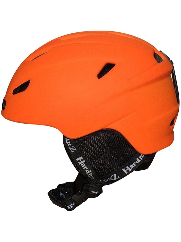 HardnutZ Ski Helmet orange Adult In-Mould Snowboard New HN104 Mens Ladies Unisex