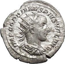 GORDIAN III  Ancient Silver Rare Roman Coin Apollo Father of Asclepius   i48755