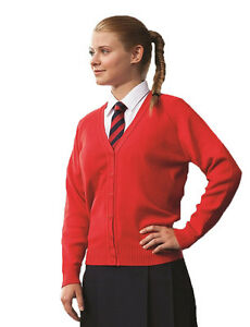 Girls-School-Knitted-Cardigan-Soft-Touch-Hard-Wearing-Premier-Quality-Ages-3-16