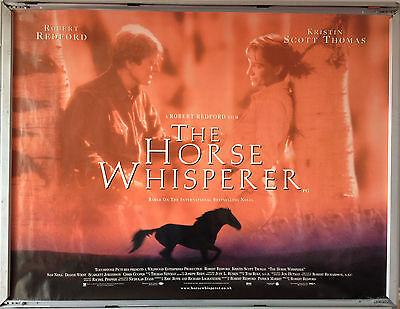 Cinema Poster Horse Whisperer The 1998 Quad Robert Redford Dianne Wiest Ebay