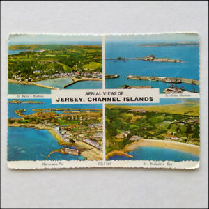 Aerial-Views-of-Jersey-Channel-Islands-1987-Postcard-P359