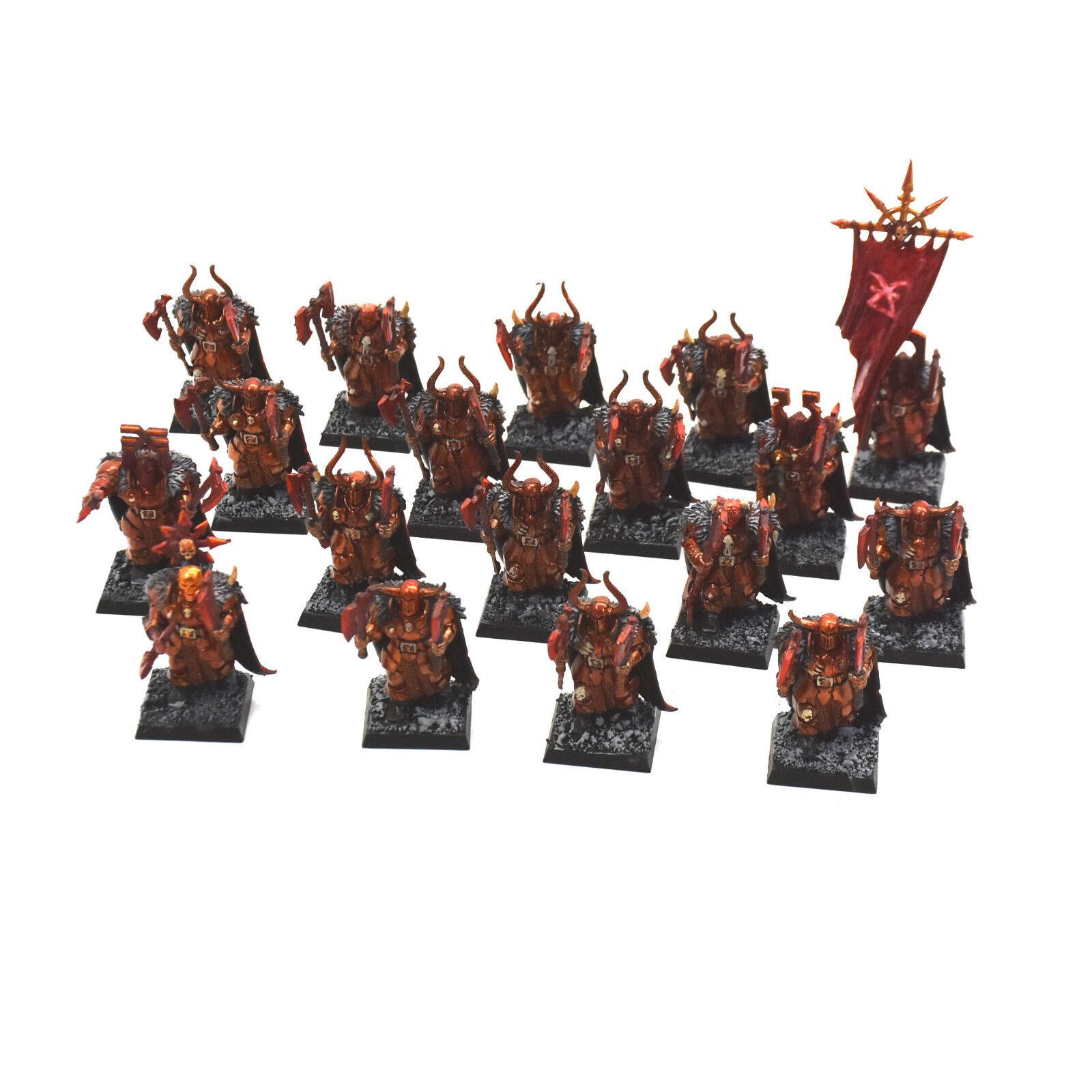 Guerreros del caos 18 guerreros Regimiento 4 Pro Pintado Fantasía Khorne