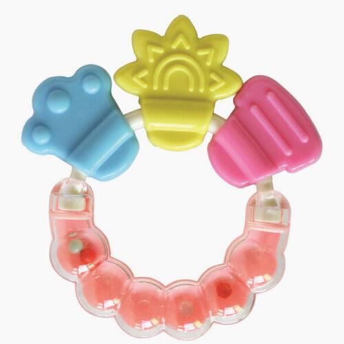 Healthy Baby  Kid Rattles Biting Teething Teether Balls Toys Circle Ring Pf