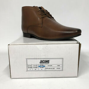 New-Mens-Jacamo-EXTRA-WIDE-Tan-Leather-Boots-Lace-Up-Formal-Shoes-UK-Sizes-7-15