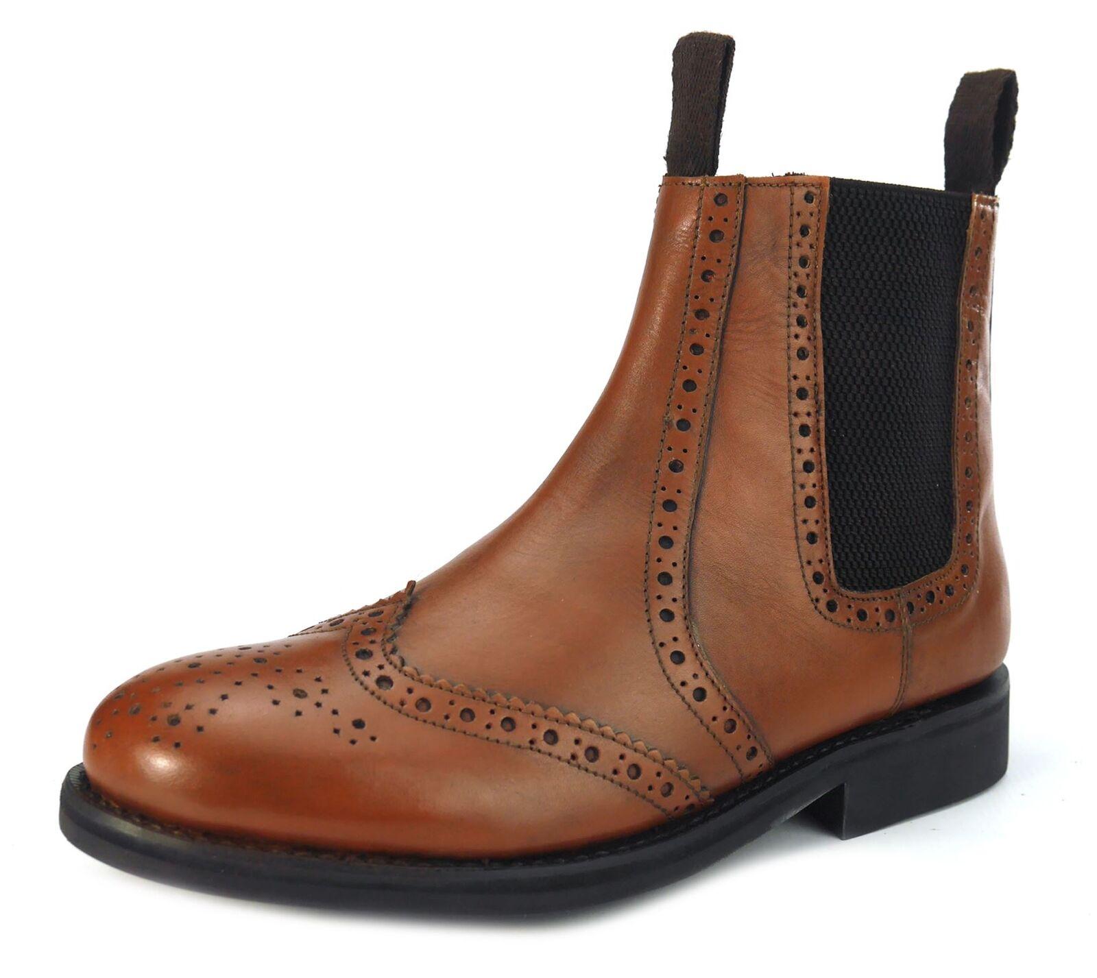 Frank James Benchgrade Evesham Welted Target Brogue Dealer Boots Tan Brown