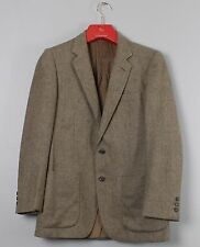 Burberrys Vintage Brown Herringbone Wool Tweed Blazer Suit Jacket 38R
