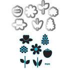 Sizzix Framelits Dies 8 Pkg W STAMPS by Doodlebug-bloom