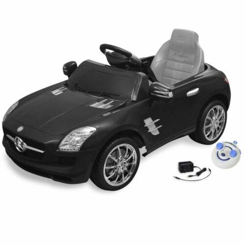 vidaXL Macchina Cavalcabile Mercedes Benz SLS AMG Nera con Telecomando Gioco