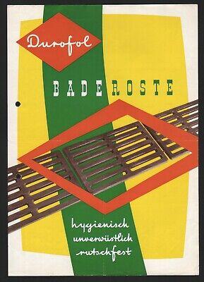 Solingen, Brief + Prospekt 1956, Durofol Presswerk Gmbh, Hier: Baderoste