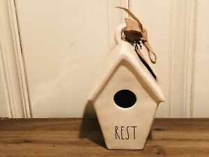 Rae-Dunn-Christmas-Collection-By-Magenta-Ceramic-REST-Slant-Roof-Birdhouse-VHTF
