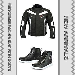 Motorbike-Biker-Racing-Jacket-Waterproof-Motorcycle-Leather-Shoes-Tousring-Boots