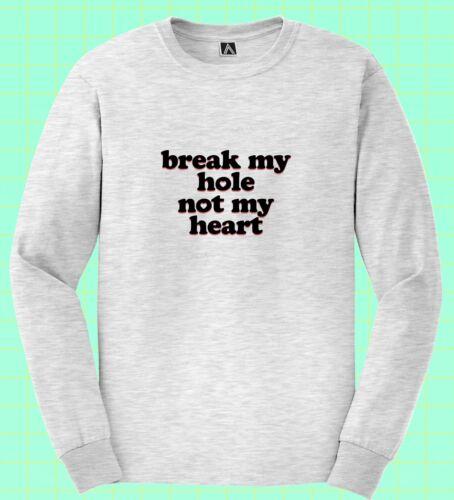 Break My Hole Not My Heart Long Sleeve Gay Pride LGBT Funny Bottom Slogan Top