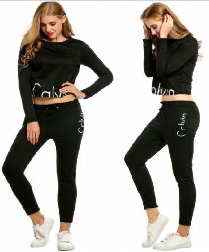 NEW Women 2PCS LONG Tracksuit Sweatshirts FULL Pant Casual Jogging Sport Suit