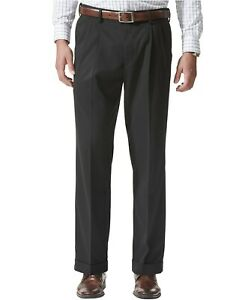 Dockers-Men-039-s-Comfort-Relaxed-Pleated-Cuffed-Fit-Khaki-Stretch-Pants-44x30