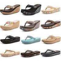 Womens Ladies Dunlop Toe Post Sandals Summer Beach Holiday Flip Flops Size UK