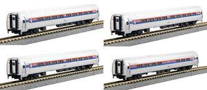 Voie N - Kato Jeu Amtrak 4 Wagen 106-8011 Neu