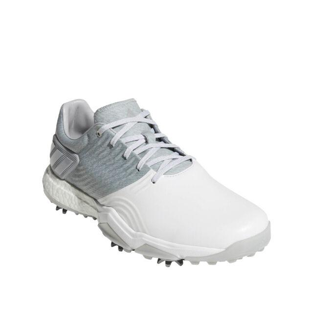Mens adidas Adipower 4orged Boost Golf Shoes 8 Gray White Da9319