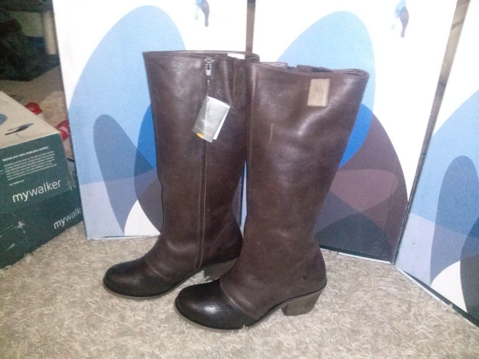 Zapatos especiales con descuento Damenstiefel Echtleder von mywalker dunkelbraun   UVP 219,95