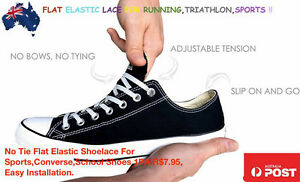 53d5c27f3709 Image is loading No-Tie-Flat-Elastic-Shoelace-For-Sports-Converse-