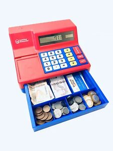 Learning-Resources-Toy-Till-Cash-Register-Calculator-Play-Money-Notes-Coins