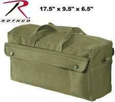 Rothco Canvas Jumbo Mechanic Tool Bag Olive Drab Hard Bottom 2 Snap Compartments