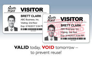 Details about 1,000 FULL-Expiring Visitor Badges (adhesive/4 rolls) for  Brother Label Printers