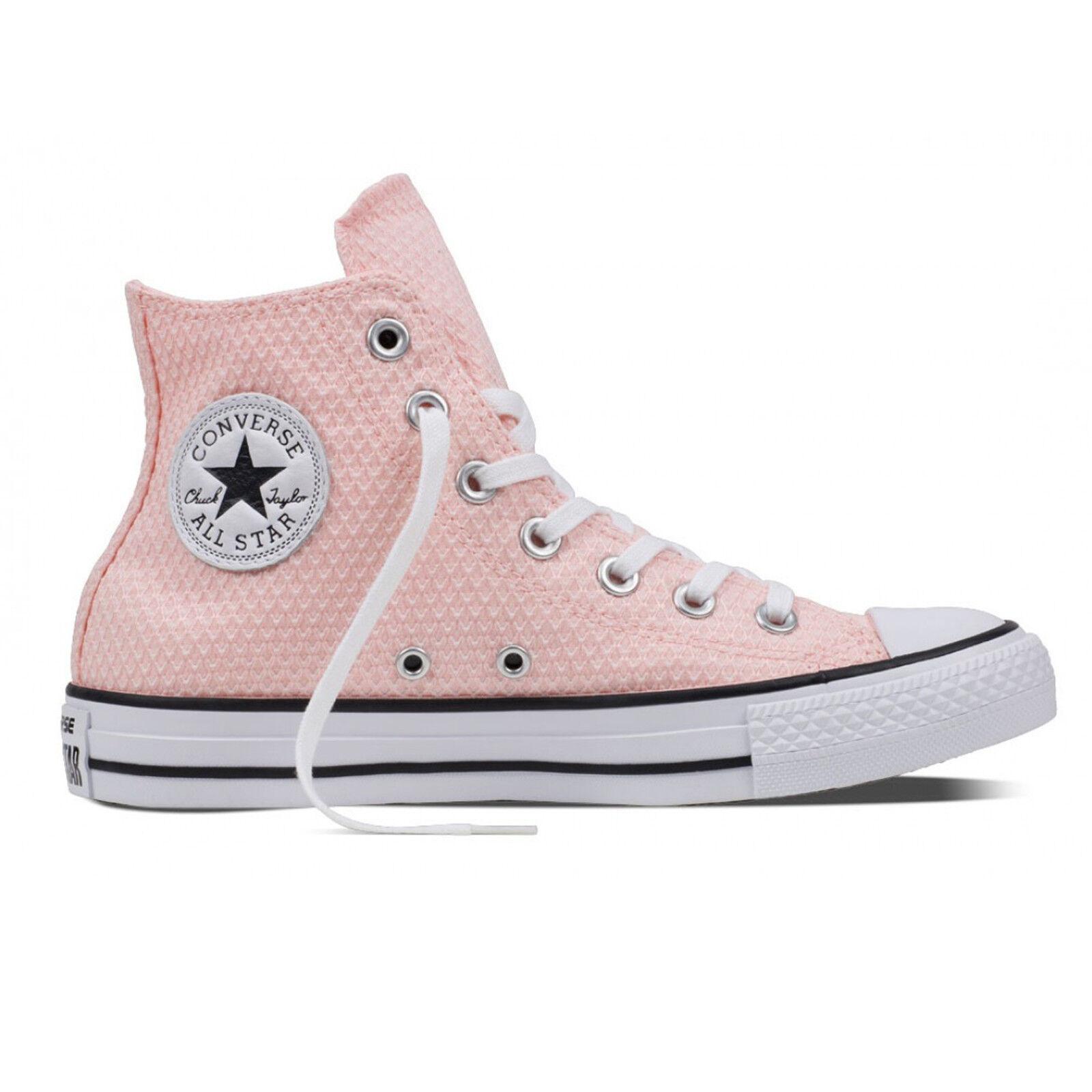 Converse-Alm HI bianca VAPOR rosa bianca scarpe da ginnastica Chuck Taylor All Star Chucks