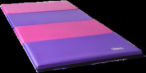 New Pink Purple Gymnastics  Mat Folding Gymnastics Panel Tumble Mat 8ftX4ft  factory direct