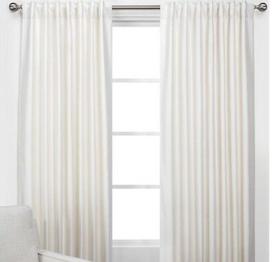 New Set Of 2 Z Gallerie Vienna Panels Curtains Champagne Ivory 54 X 108 Ebay