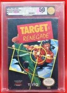 Target-Renegade-Nintendo-NES-Brand-New-Rare-H-Seam-Sealed-WATA-VGA-Graded-50