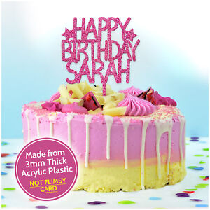 Custom Happy Birthday Cake Topper Personalised With Any Name Cake