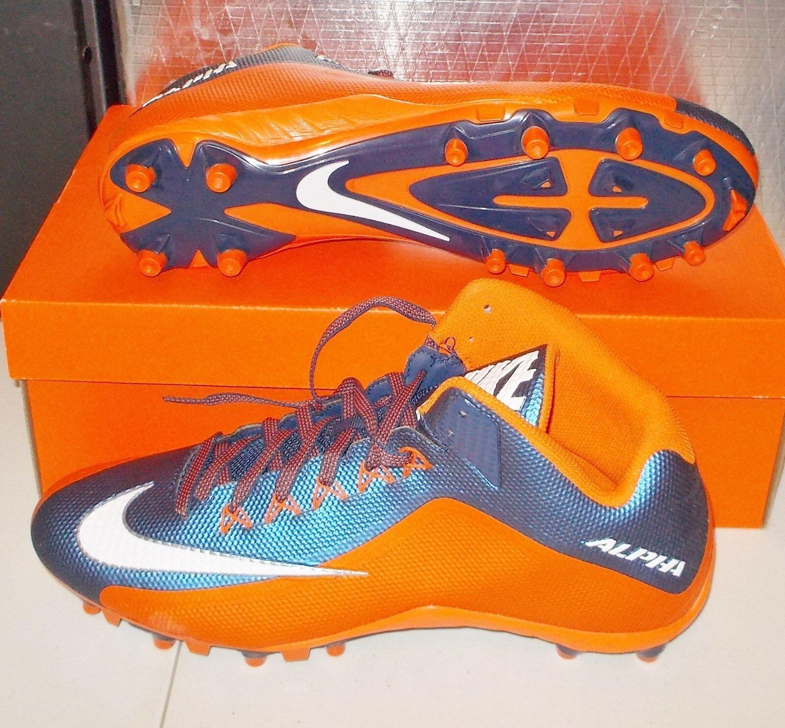 NIKE ALPHA PRO 2 3/4 TD PF Football Cleats NikeSkin MENS 729444 406 NEW
