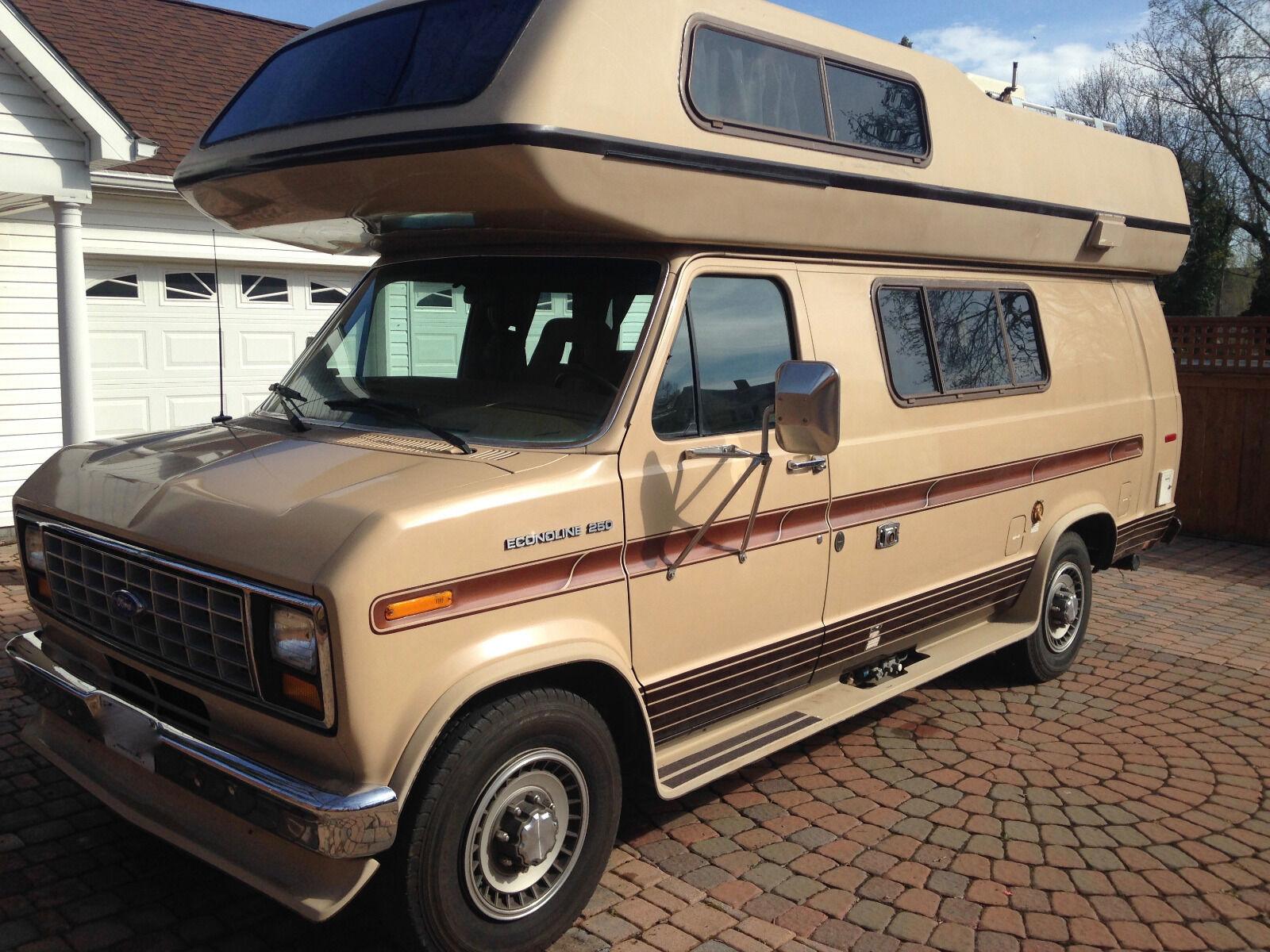 1991 okanagan ford econoline 250 class b rv camper van. Black Bedroom Furniture Sets. Home Design Ideas