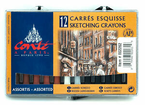Conte-a-Paris-Carre-Sketching-Crayons-2-1-2-034-x-1-4-034-Square-Sticks-12-Asst-Cover1