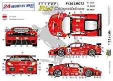 """[FFSMC Productions] Decals 1/32 Ferrari F-430 LMGT2 """"Team RISI"""" (LM 2008)"""