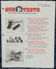 Magazine GUN TESTS December 1991 !COLT Gold Cup National Match PISTOL! FREE SHIP