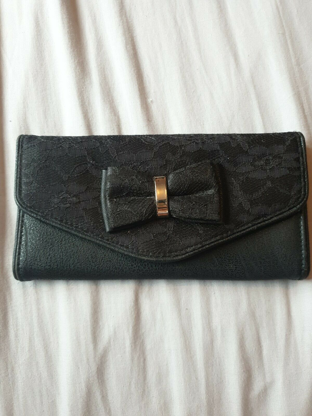 Leather And Lace With Bow Purse