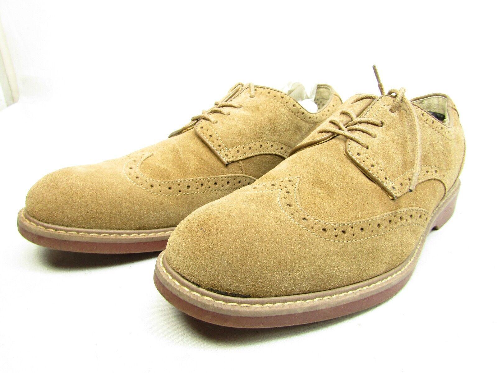 G.H. Bass & Co. PEMBROKE Suede 014-1500  Cognac US Size 11D