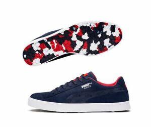 5655e56eaa01 Puma Suede G Team USA Peacoat Golf Shoes (191208 01) Spikeless Boots ...